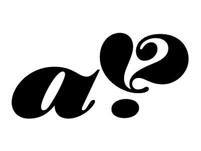 Interrobang ampersand typography type design type lettering type
