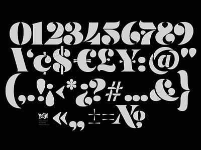 Updated Stencil Numerals Set robu type design stencil numerals fonts