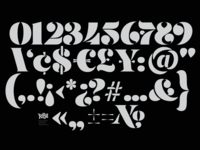 Updated Stencil Numerals Set