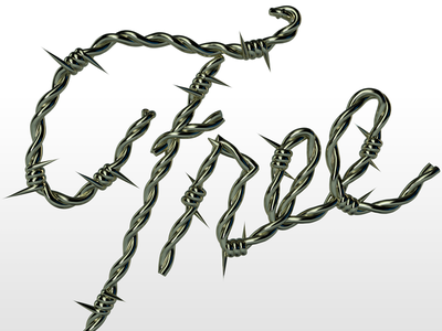 Free editorial free lettering typography barbwire