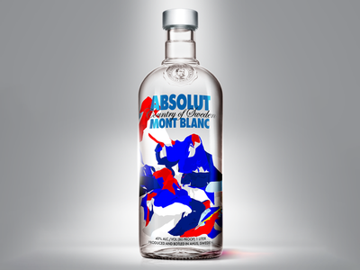 Absolut Mont pattern abstract packaging vodka absolut