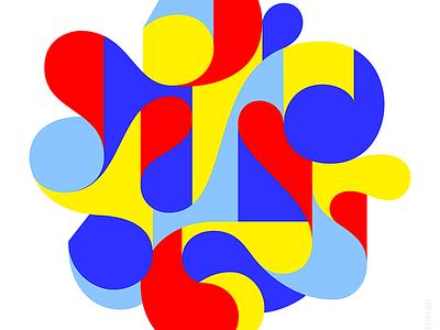 Geometric art graphic art