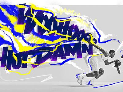 Kawhi Leonard typography basketball sports graphics