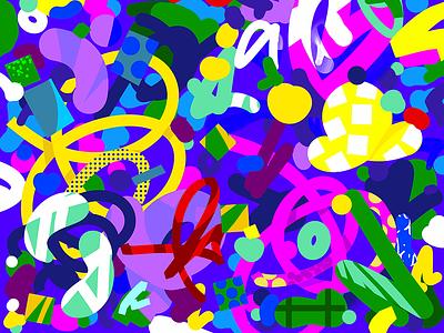 Graffiti Pattern abstract key visual pattern graffiti