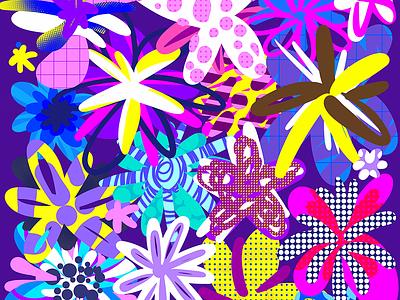 Graffiti Flowers 02 key visual key art abstract pattern flowers graffiti
