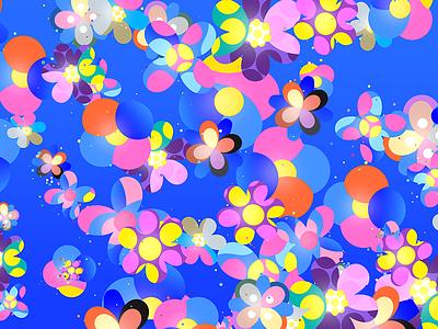 Flowers robu colorful key art key visual flowers generative