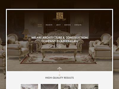 Baroque Style baku construction azerbaijan architecture clean ui ux website