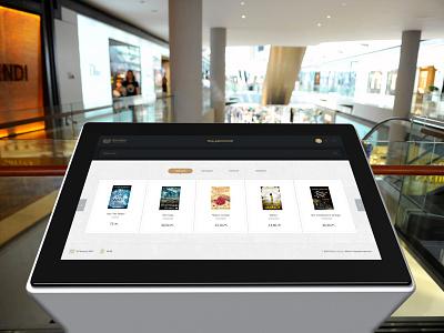 Find your book (Kiosk UI/UX Design) clean ui ux flat minimal kiosk book find library baku azerbaijan