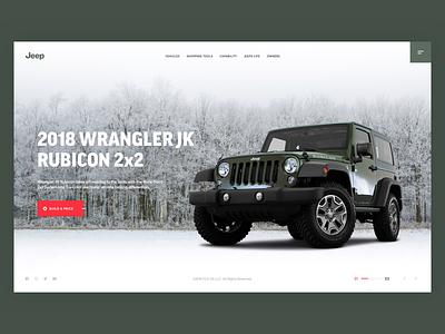 Jeep Wrangler wrangler web rubicon offroad jeep interface design concept car auto
