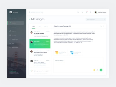 Dashboard UX/UI (Message)
