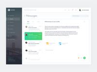 Dashboard UX/UI (Message)