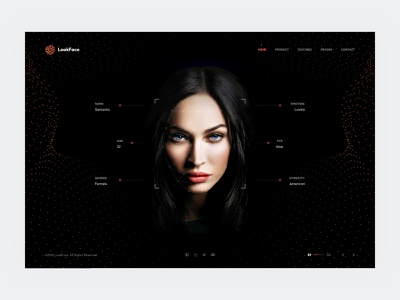 Face Recognition welovedesign uxinspiration uiinspiration security solutions interface black design uidesign userexperiencedesign website dribbble azerbaijan baku ux ui face recognition