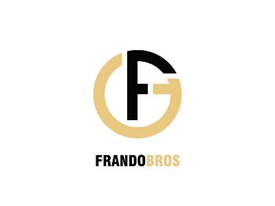 Frandobros Title logo typography vector