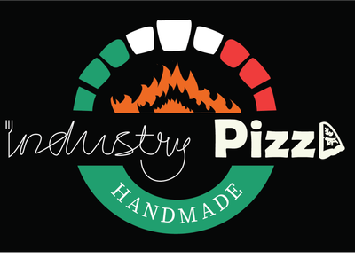 Industry Pizza flat logo design