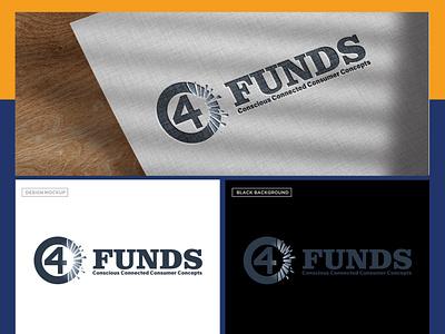 C4 Funds design branding typography logo flat