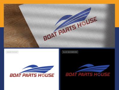 Boat Parthouse branding logo flat design