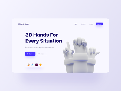 3D Hands E-Commerce Web Design ux ui uiux userexperience userinterface cta button modelling blender3d 3dhands uidesigners appdesigner webdesigner uidesignchallenge uidesigner webdesign uidesign