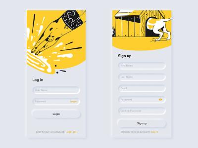 Neomorphic Login System Light UI Design appdesign uidesign userinterface ui design corporate smooth minimal userexperience ux