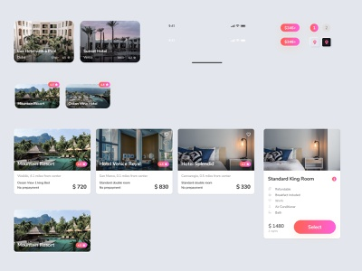 Neomorphic Travel UI Kit Free - Light product design mobile interaction appdesign uidesign neomorphic userinterface design smooth minimal ui userexperience ux