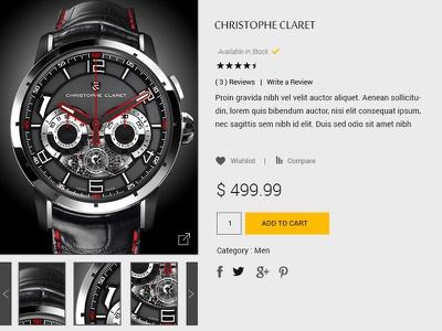 The Luxury Watch Store Concept web ecommerce ux elegant watch store luxury design appdesign appui appux