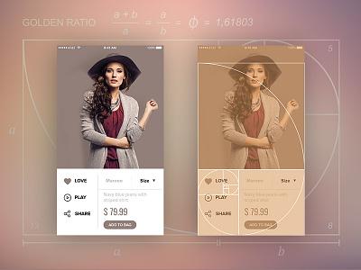 Golden Ratio in UX/UI Design mobileapp appdesign ecommerce design geometry ratio golden ui ux