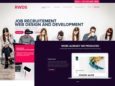 RWDS corporate job minimal smooth userinterface userexperience webdesign landingpage interaction ui ux