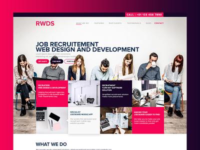RWDS ux ui interaction landingpage webdesign userexperience userinterface smooth minimal job corporate