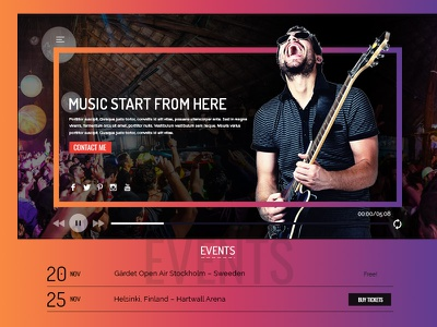 Music profile experience design ui ux web design landing page user interface user experience music