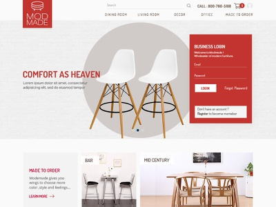 Modmade Furniture retail ecommerce chair userinterface userexperience ui ux furniture