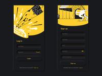 Neomorphic Login System Dark UI Design appdesign uxdesign ux userinterface userexperience ui  ux uidesign ui smooth signup neomorphism minimal login screen design