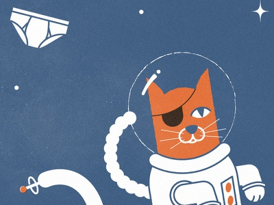 Cats in Space cat space wfmu radio tee shirt tightly whities undies
