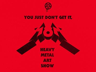 \m/ o \m/ pigs blood heavy metal pentagram mom show art metal