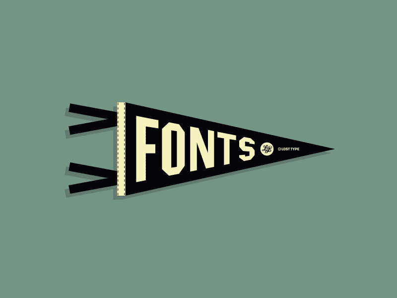 Fonts Pennant lost type type sports fonts pennant