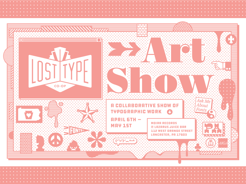 Lost Type Art Show! lost type art pennsylvania