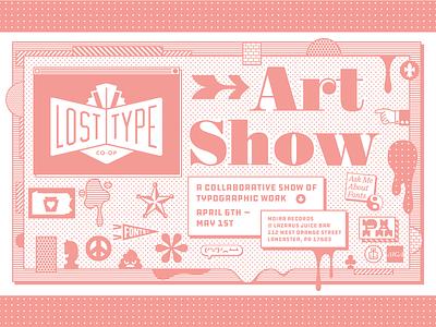 Lost Type Art Show! lost type art pennsylvania