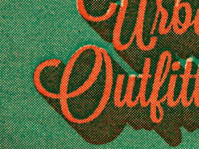Beat Up Script lavanderia script half tone logo type texture lost type