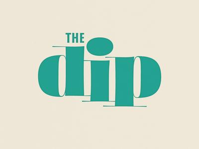 The Dip Logo soul band music logo lettering