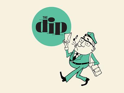 The Dip's Mail Carrier music whistle characer lettering logo illustration type