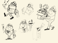 Mail Carrier Sketches