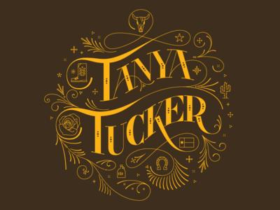 Tanya Tucker Lettering boot skull rose tanya tucker country music lettering