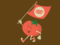 Tomato! mamas sauce tomato character design illustration