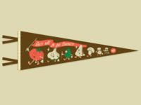 Mama's Sauce Pennant illustration tomato character design mamas sauce