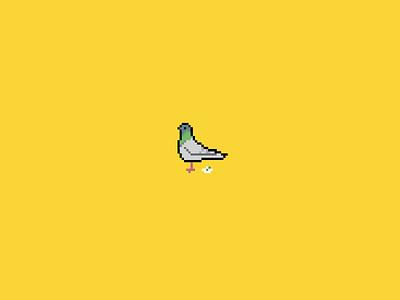 Pigeon  pigeon poop poo bird crap shit turds feces 8 bit iphone wallpaper lock screen desktop