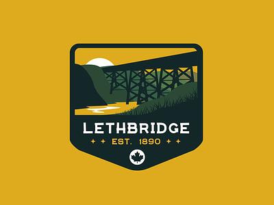 Lethbridge Alberta Badge print badge illustration patch