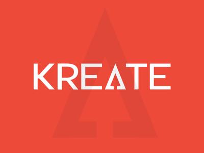 Kreate Logo design branding logo website logotype kreate digital agency