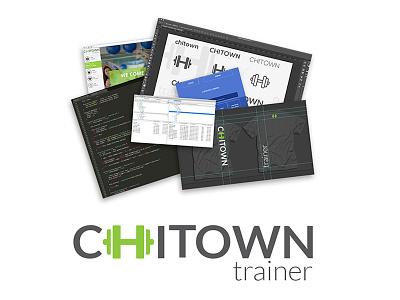 Logo/Branding logo design branding fitness training green website dumbbell