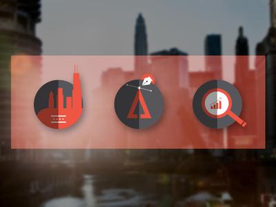 Kreate Icons design branding icons website logotype chicago digital agency