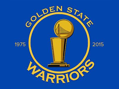 Golden State Warriors NBA Champions golden state basketball nba warriors trophy design