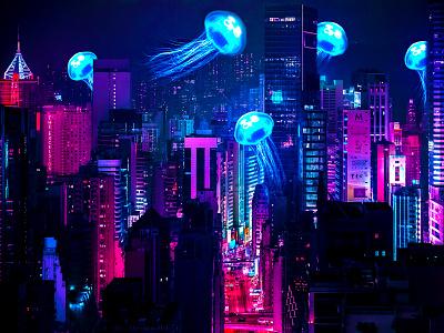 THE NEON вечер медузы neon