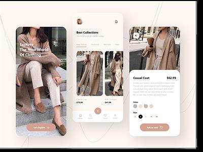 fashion store design ux style fashion uidesign ui mobile minimal ios icon design app design app android adobe xd